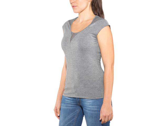 Odlo Revolution TS X-Light Camiseta sin mangas cuello crew Mujer, steel grey melange